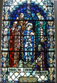 Stained Glass Window showing Christ's Nativity