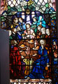 Stained Glass Window showing the Last Supper