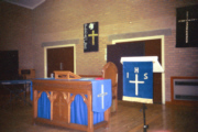 The Forge Community Centre set up for worship
